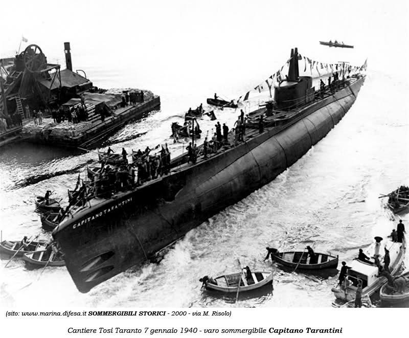 varo del sommergibile CAPITANO TARANTINI7 GENNAIO 1918