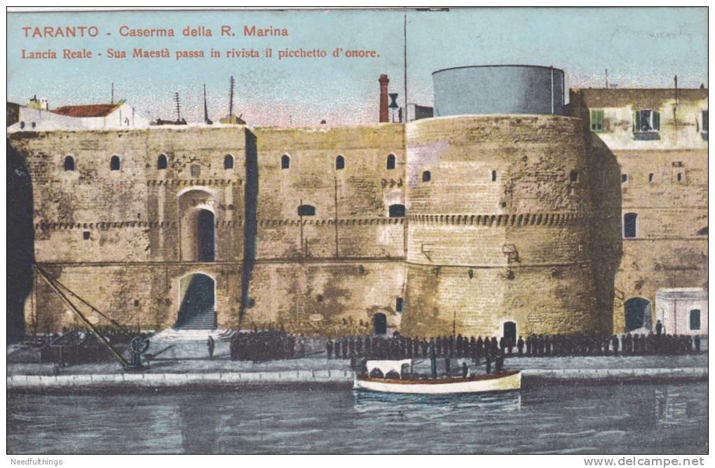 0023 Caserma Regia Marina-Visita Di Sua Maestà Il Re