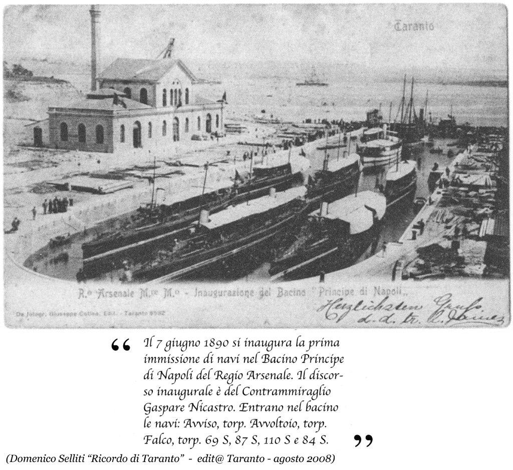 0049 Regio Arsenale Bacino Principe Di Napoli-Inaugurazione-7.6.1890