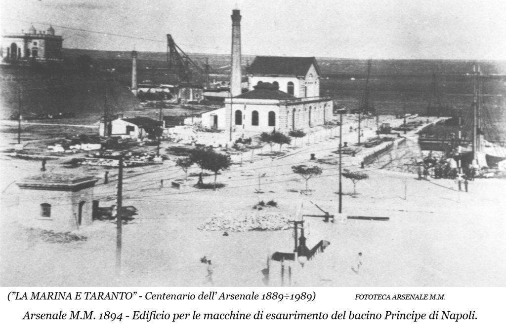 0053 Regio Arsenale Bacino Principe Di Napoli-Edificio Di Esaurimento-1894