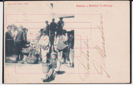 0004 Taranto-Mestieri-Lavoro-Venditore-Di-Ostriche-Animata