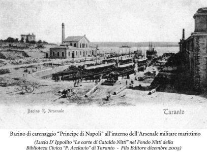 0058 Regio Arsenale Bacino Principe Di Napoli In Piena Attività
