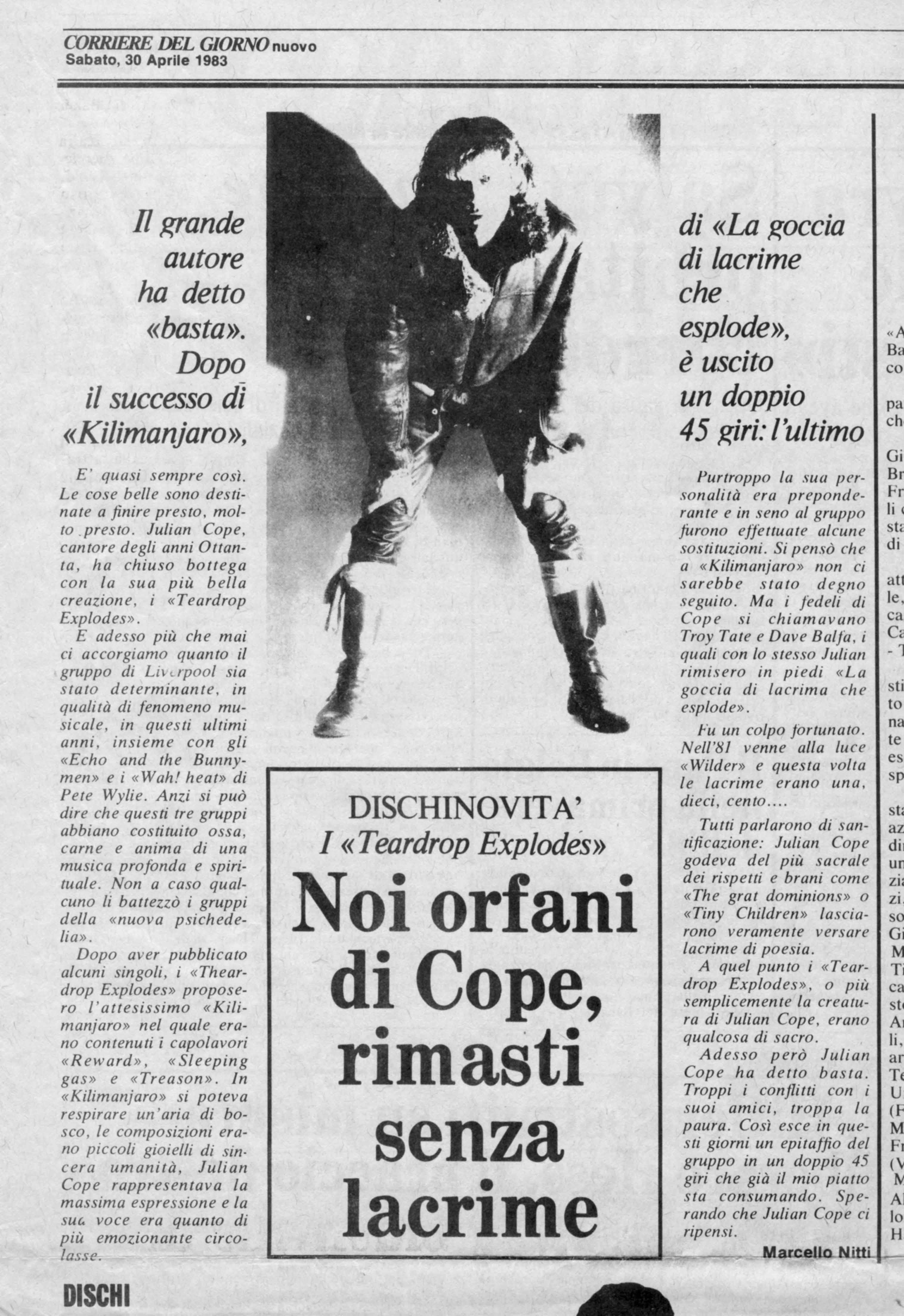 30.04.1983. Teardrop Explodes