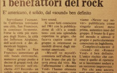 14.04.1983. I Romeo Void, California