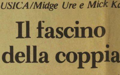 23.08.1983. Midge Ure e Mick Karn