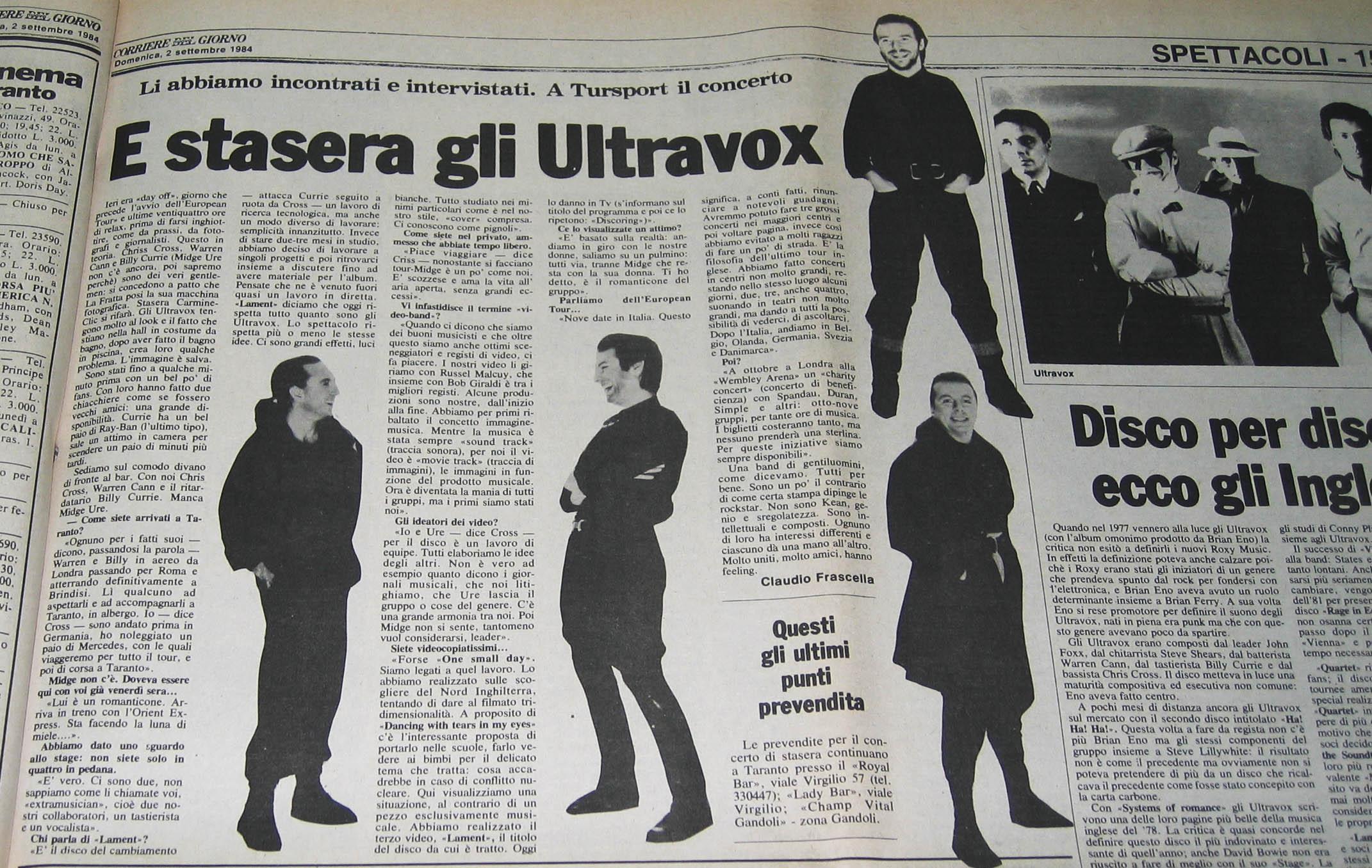 02.09.1984. E stasera gli Ultravox.